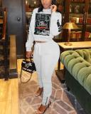 Sports Casual Fashion Sweater Two-piece Set