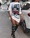 Polyester Sexy Sleeve O neck A-Line Knee-Length Dresses