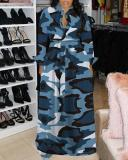 Plus Size Fashion Print Casual Maxi Dress