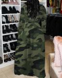 Plus Size Fashion Print Casual Maxi Dress