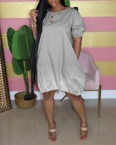 Casual Gradient Color Dress