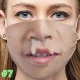Funny Face Expression Breathable Cotton Mouth Mask