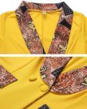 Women Blazer African Dress Asymmetrical Bodycon Plus Size Ankara Dresses