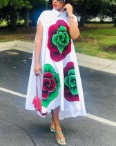 African Plus Size Printed Dress Ethnic Style Maxi Dress