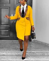 Women Blazer African Dress Asymmetrical Bodycon Plus Size Ankara Dresses