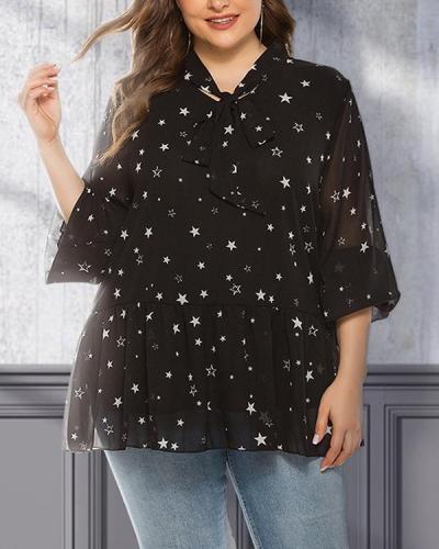 Long-sleeved Chiffon Shirt Loose Thin Blouse