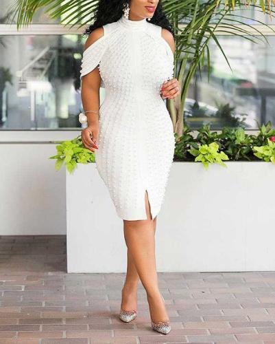Sexy Fashion Plus Size Bubble Beads Dress