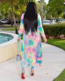 Colorful Printed Cardigan & Pants