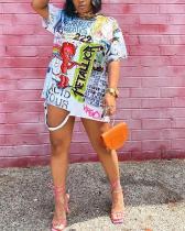 Plus Size Regular Sleeve T-shirt Dress