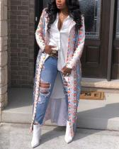 Fashion Casual Plaid Digital Printed Jacket