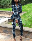 Leisure Sports camouflage Two-piece Suit