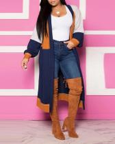 Color Splicing Cashmere Cardigan