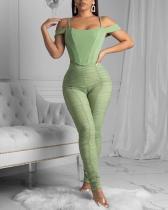 Sexy Mesh Double Layer Two-piece Set