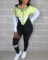 Cute Sports Leisure Color Matching Two-piece Suit
