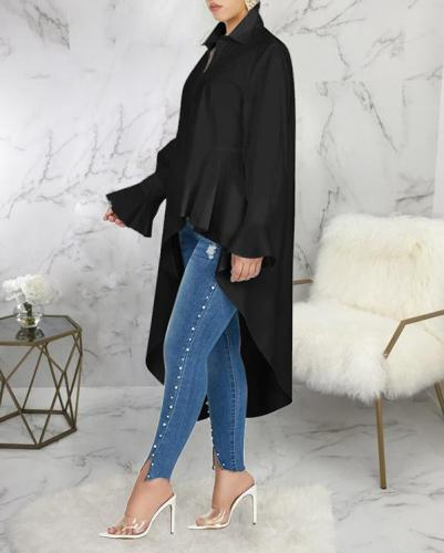 Sexy Fashion Slim Irregular Tops