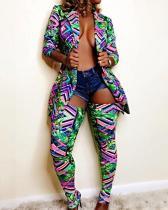 Lapel Jacket Slim-fit Sock Pants Two-piece Suit
