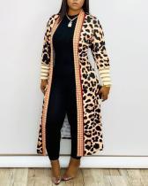 Leopard Printed Jacket Cardigan Coat