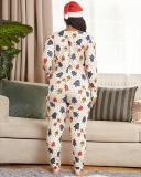 Full Length Western Geometric Pencil Pants Women's Jumpsuit