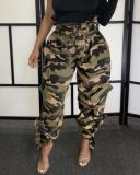 Camouflage Print Casual Pants