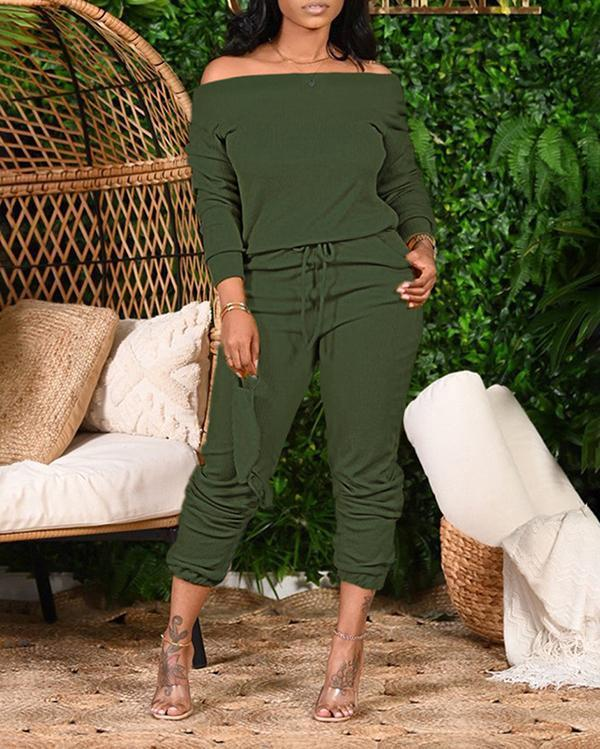 Loose Strapless Fashion Casual Two-piece Suit