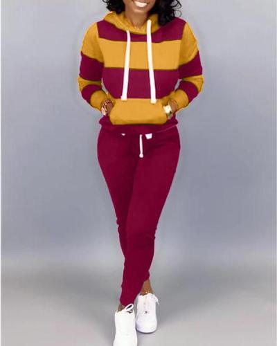 Two-Tone Hoodie & Pants Set