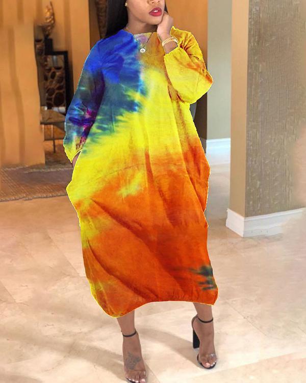 Tie-dye Loose Maxi Dress