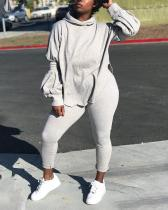 Sports Leisure Solid Color Loose Two-piece Suit