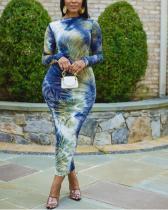 Tie Dye Printed Midi Dress