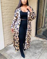 Leopard Print Plus Size Loose Cardigan