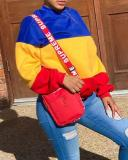 Fashion Casual Color Block Long Sleeve Sweatshirt