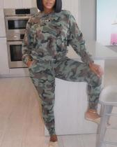 Camouflage Sports Leisure Trousers Two-piece Suit