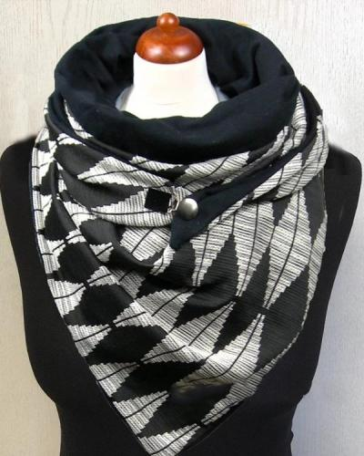 Women Diamond Printed Scarf Shawl Vintage Scarf