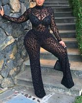 Sexy Lace Long Sleeve Jumpsuit