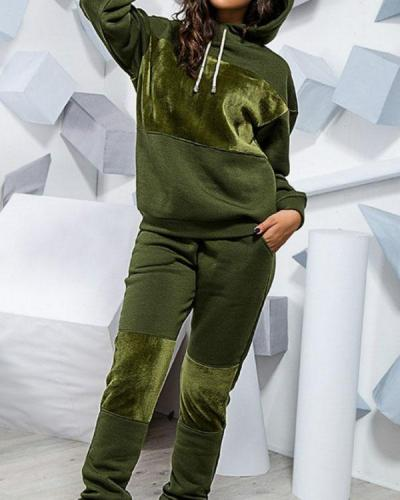 Sports Leisure Sweater Suit 2-piece Set