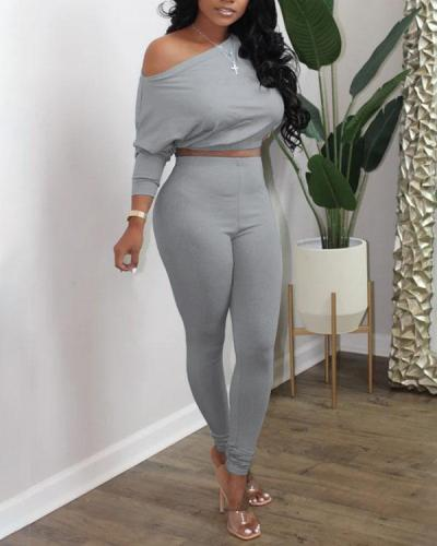 Sexy Sloping Shoulder Casual Women's Suit