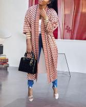 Threaded Sleeve Cardigan Jacket Coats