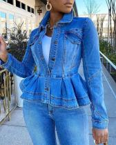 Casual Denim Tops Jacket