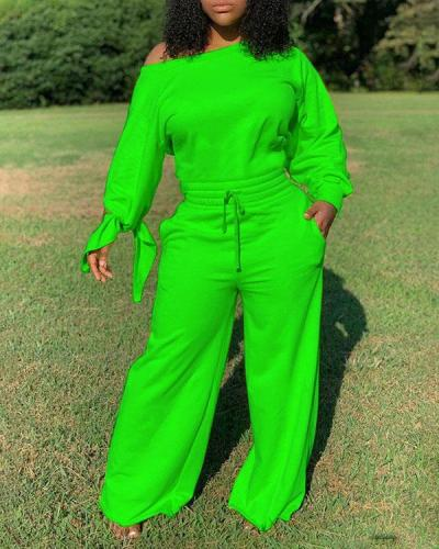 Solid Color Loose Sexy Cotton Jumpsuit