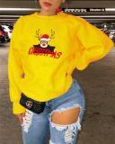 Christmas Animal Print Long Sleeve Sweatshirt