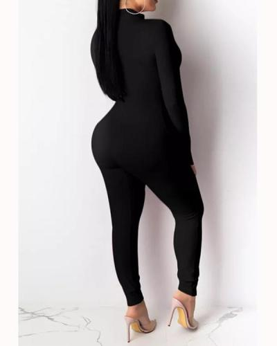 Sexy Bandage Hollow-out Design Plus Size One-piece Jumpsuit