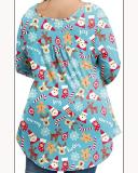 Long-sleeved Christmas Casual Elegant Waist Shirt