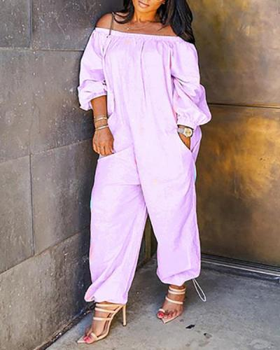 Leisure Loose Plus Size One-piece Jumpsuit