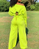 Fashion Casual Personality Nine Points Sweatshirt Suit