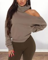 Pullover Ribbed Turtleneck Sweater Top