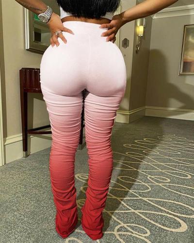 Gradient Hip-lifting Slim-fit Flared Pants