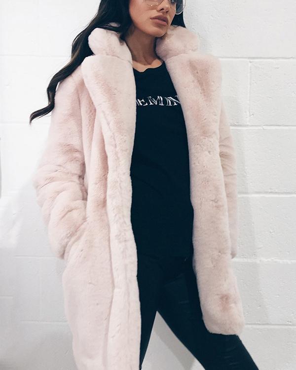 Loose Fur Coat