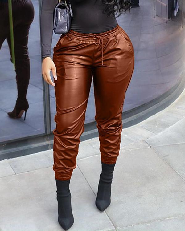 Sexy PU Leather Pants