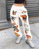 Casual Print Sports Pants