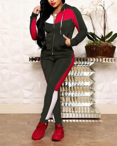 Fashion Splicing Leisure Sports Suit