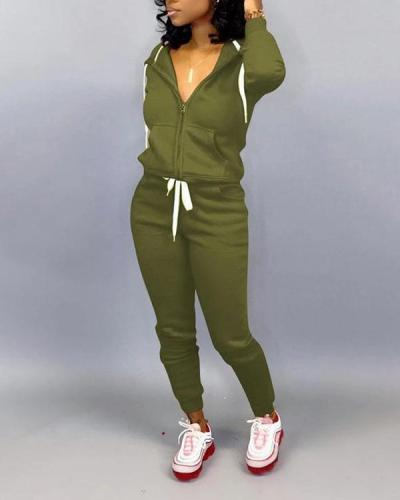 Sports Casual Loose Long-sleeved Trousers Sweater Suit